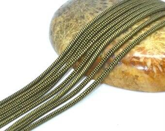 Brass snake 1 mm bronze color