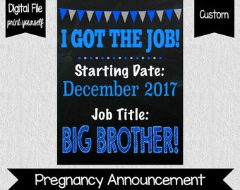Big Brother Pregnancy Announcement - If You Mustache - Mustache Pregnancy Announcement - Sibling Announcement - Pregnancy Reveal - Digital