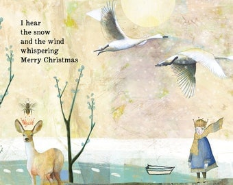 HOLIDAY CARD #333 Whispering set of 6
