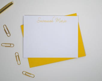 Personalized Stationery Set/Note Cards Handmade/Thank You Stationary/Blank Notecards Set/Paperienco/Personalized Stationary Cards/ Set of 12