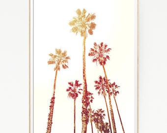 Printable Palm Trees Wall Decor Print Poster Tropical Beach Marine Art Landscape Colour Beach Nature Sea Minimalist Banana Leaf Sky 1027