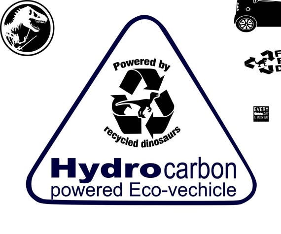 Eco smart car decal, eco decals, dinosours stickers, Decals for men,  yeti decal for man, vinyl stickers decals, custom decal, hydrocarbon