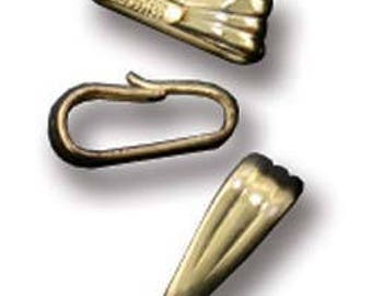 Gold Filled Clip On Bail - 2.5mm Opening (Pkg of 10)(910F-12)
