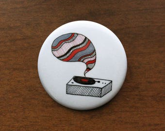 "Record Player 1.5"" Pin"