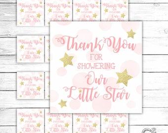 Twinkle Twinkle Pink Gift Tag