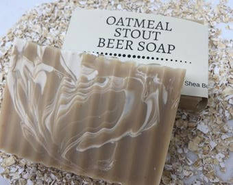 Oatmeal Stout Beer Handcrafted Artisan Soap