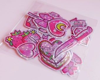 Anti Valentine's Day Holographc Sticker Pack