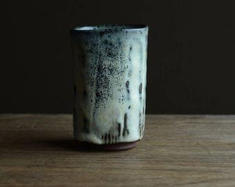 Square Yunomi - tea cup. Made from local native clay from The Dingle Peninsula.#217