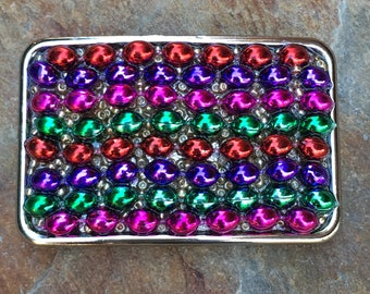 Belt buckle colorful beaded boho belt buckle bohemian belt buckle gypsy accessories mens belt buckle belt buckles for women mardi gras beads