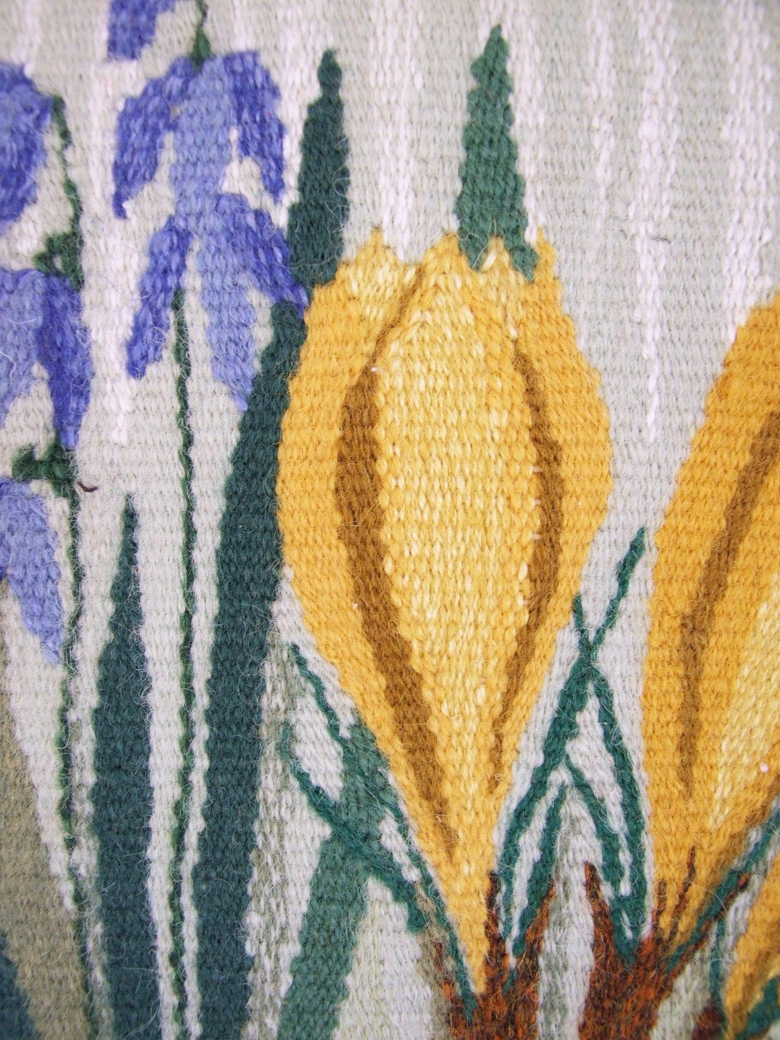 Swedish vintage framed embroidery flowers //Twist Stitch Swedish ...