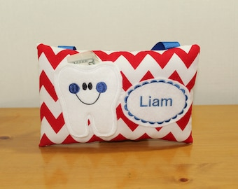 Tooth Fairy Pillow - Tooth Pillow - Boys Pocket Pillow - Tooth Fairy Certificate - Boys Tooth Fairy Pillow - Pocket Pillow - Birthday Gift