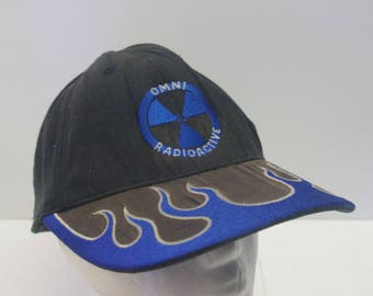 Omni Radioactive hat cap 90s fitted goth club 1990s punk radiation
