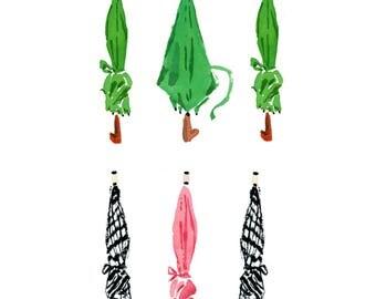 Art Print: Umbrellas
