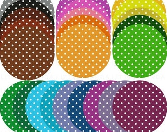 80% OFF SALE Polka Dot Circles Digital Clip Art - Personal and Commercial Use - Instant Download - D370