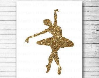 Ballerina Wall Art ballerina wall art | etsy