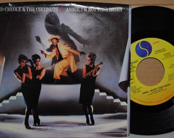 Kid Creole+The Coconuts Annie Im Not Your Daddy Near Mint 1983 Promo  R+B 45RPM Vinyl Single in Picture Sleeve