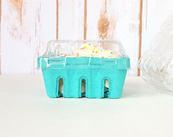 30 qty. Pint Berry Baskets and Lids, Berry Till, Rustic Favor Basket Wedding Favor Basket, Farm Theme Party Favor