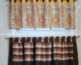 McCalls Craft Pattern 9850 Victory Valances in 4 Styles from Waverly Inspirations - Easy to Sew  NEW Pattern Dated 2016