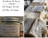 Vegan Sugar Scrub {16oz} & (1) Vegan Hot Process Soap