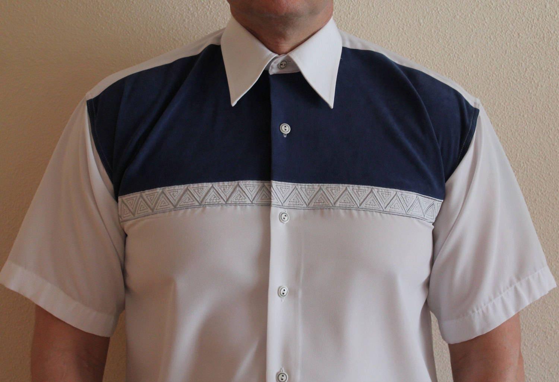 Versace shirt classic mens shirt white silk shirt button for Short sleeve white dress shirt