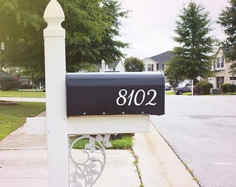 ON SALE: Mailbox Number Decal, Custom Mailbox Sticker - 001