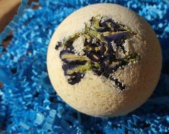 Organic Bath Bombs, All Natural Skin Care bath bomb. Natural Dye, Organic Gift for Her, Organic Citrus Bath bomb