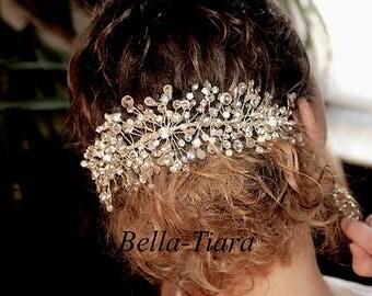 crystal hair vine, wedding hair vine, wedding hair comb, wedding comb, wedding headpiece, wedding back crystal spray