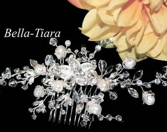pearl wedding comb, pearl bridal comb, wedding hair comb, pearl wedding hair comb, crystal pearl bridal comb