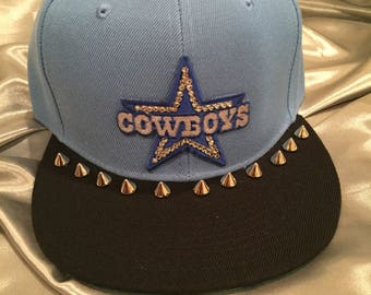 Bling Hats, Hats, Cowboys, Dallas Cowboys Hat,  Bling Hat, Women's Hat, Sworovski Crystal Hat
