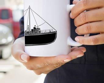 KillerBeeMoto: U.S. Made Coffee Mug  Vintage Coast Guard Vessel