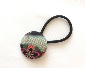 Hair elastic, Covered Button Hair Elastic, Japanese traditional pattern, cool Japanese style