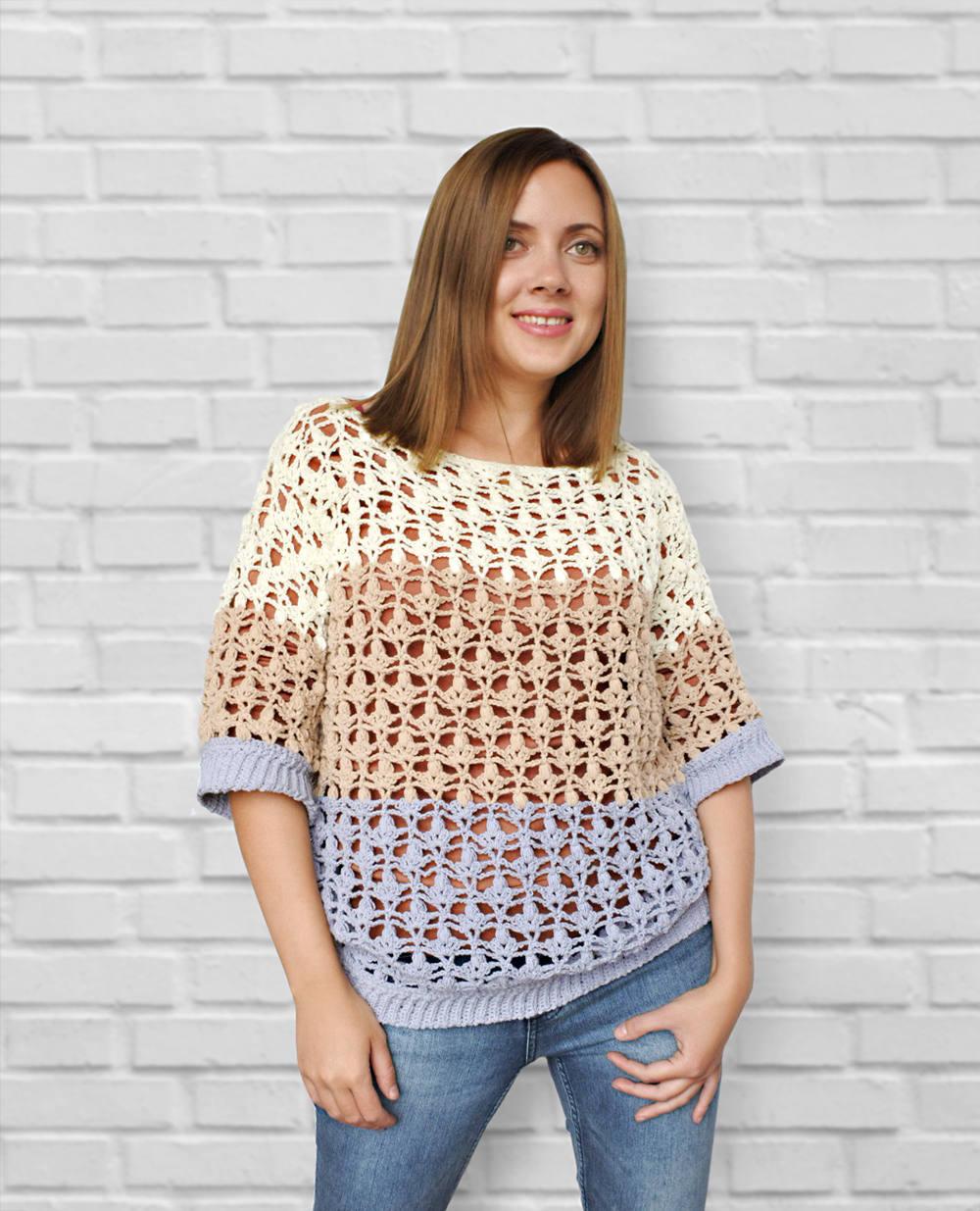 Crochet pdf pattern crochet sweater pattern crochet pullover this is a digital file bankloansurffo Choice Image