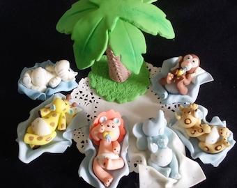 Jungle Safari Cake Topper, Baby Animal Baby Shower, Jungle Cake Topper, Cute Baby Animal Safari Birthday Jungle Baby Shower, Jungle Birthday