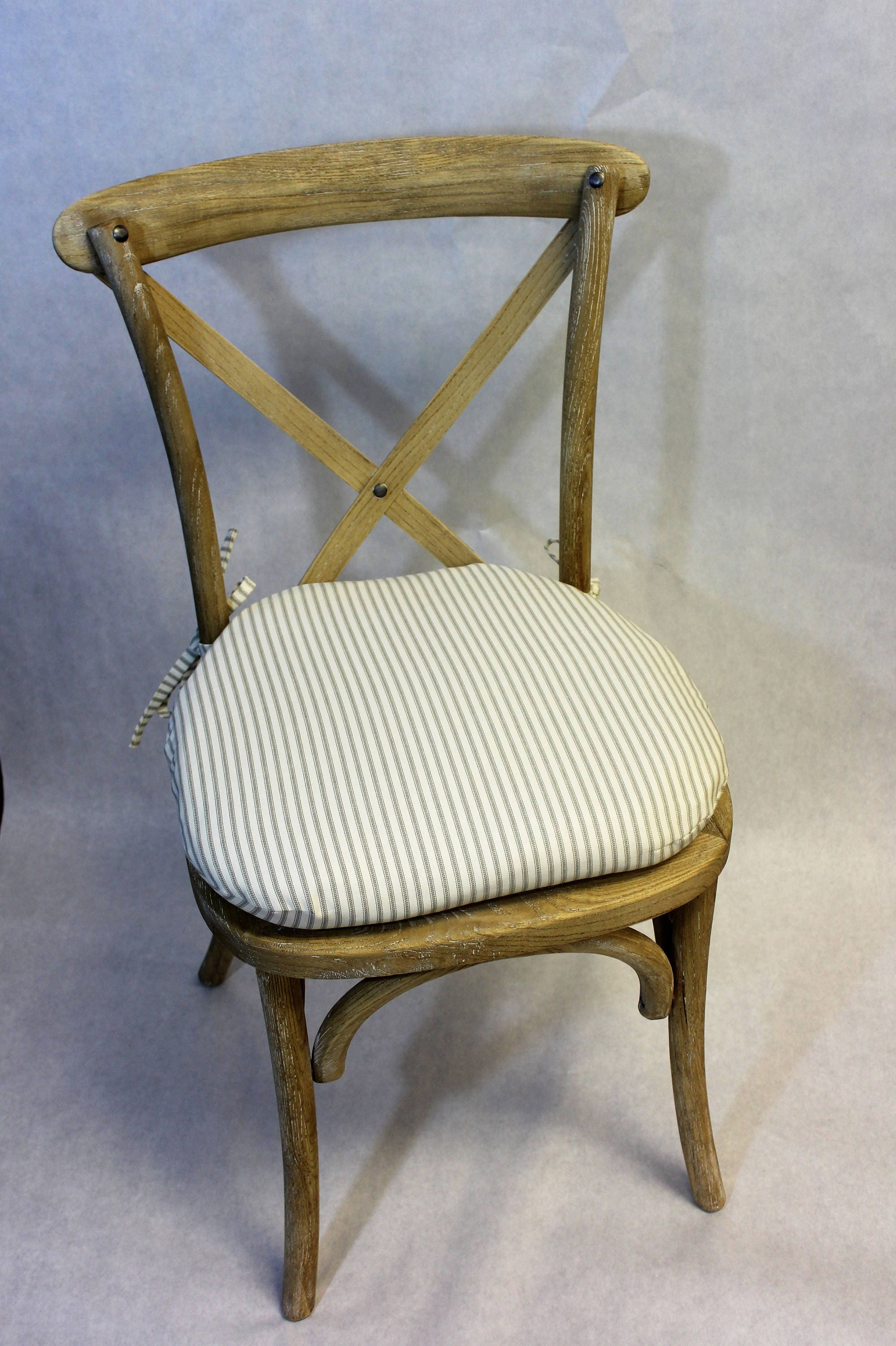 ticking fabric chair cushion rustic tie back chair cushion