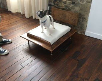 Custom made Mid Century Modern Style Wood Dog Bed