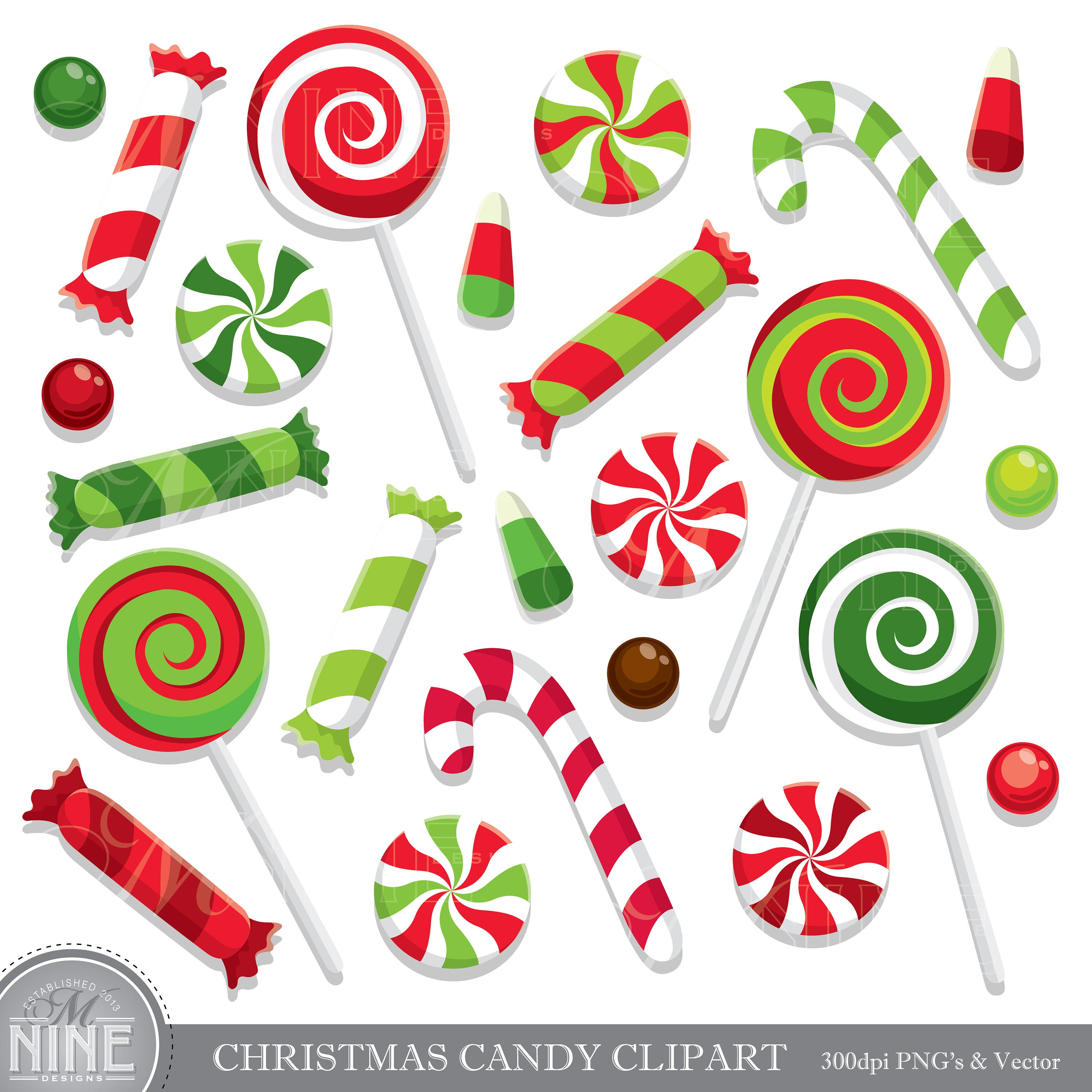 paintings christmas candy - photo #1