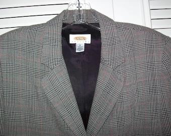 Pantsuit 8, Talbot's Glen Plaid Wool Pantsuit, Career Vintage Stunning Find !  See details