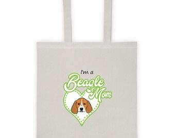 BeagleMom Natural Tote bag (Green)