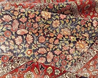 "Very fine Turkish Hereke rug %100 Silk 3'7''x5'8"" ~ 625 KPSI"