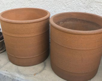 Pair of Massive stock Architectural Pottery planters, Pro Artisan David Cressey