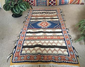 Moroccan Handmade Berber Glaoui Rug 100% wool. Bargain