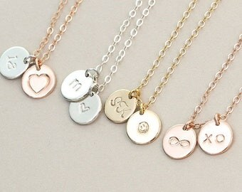 Gold filled 925 Personalized necklace 9 mm PN006