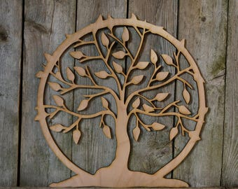Tree of Life wall hanging sign/gift/cutout/laser/door/decor/unfinished/wood/laser