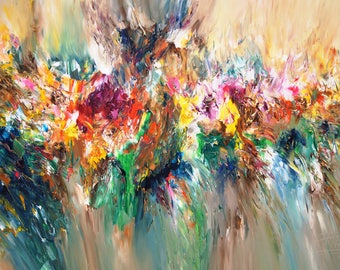 """47.2 """" x 78.7 """" Large Abstract Painting on canvas, XXL, original acrylics handmade painting, artist Peter Nottrott."""