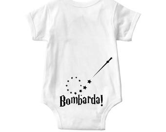 Baby onesie | Bombarda is the incantation of a charm used to provoke small explosions | Harry Potter inspired