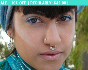 Triangle nose stud, Silver nose stud, tribal nose stud, nose pin, nose screw, nostril stud, small nose stud, stud nose ring, tiny nose Stud