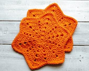Crocheted Washcloths/Crochet Spa Cloths Set of 2/Dishcloths/Crochet Baby Cloths/Handmade /100% Cotton/ Eco-Friendly