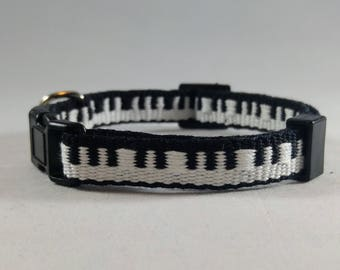 Piano Cat Collar - Handwoven; Adjustable; Breakaway safety buckle; Musical Cat; Optional tag