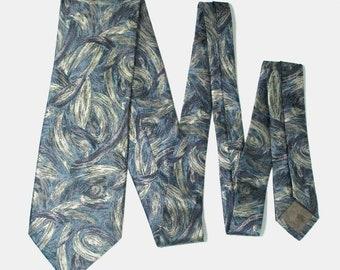 Kenzo Abstract Multi Color Silk Necktie Tie