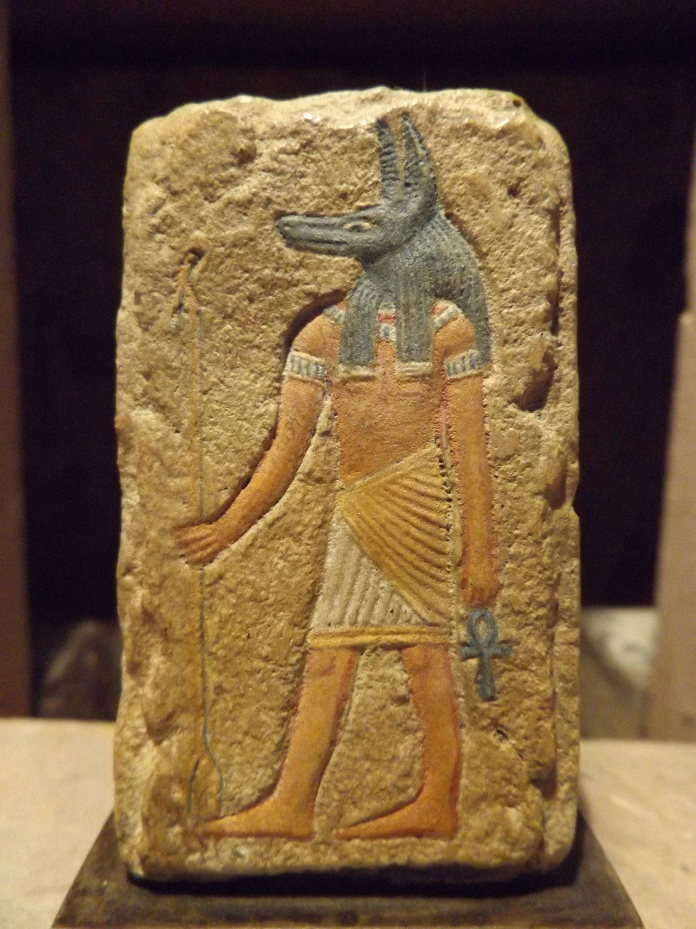 Egyptian art anubis a relief sculpture of the ancient